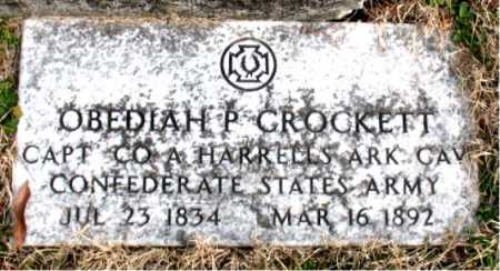 CROCKETT  (VETERAN CSA), ODEDIAH P - Carroll County, Arkansas | ODEDIAH P CROCKETT  (VETERAN CSA) - Arkansas Gravestone Photos