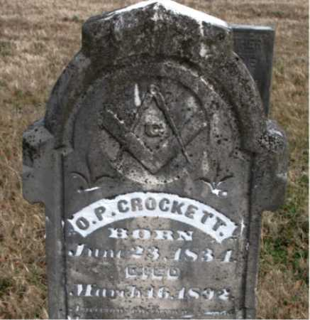 CROCKETT, O. P. - Carroll County, Arkansas | O. P. CROCKETT - Arkansas Gravestone Photos