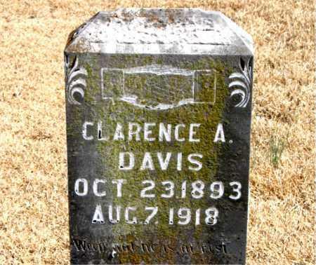 DAVIS, CLARENCE A. - Carroll County, Arkansas | CLARENCE A. DAVIS - Arkansas Gravestone Photos