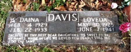 DAVIS, LOVEDA - Carroll County, Arkansas | LOVEDA DAVIS - Arkansas Gravestone Photos
