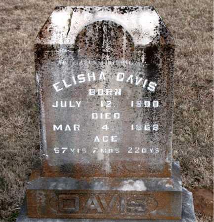 DAVIS, ELISHA - Carroll County, Arkansas | ELISHA DAVIS - Arkansas Gravestone Photos