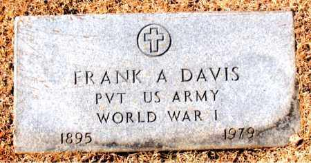 DAVIS (VETERAN WWI), FRANK A - Carroll County, Arkansas | FRANK A DAVIS (VETERAN WWI) - Arkansas Gravestone Photos