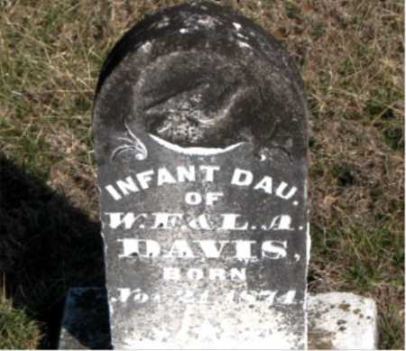 DAVIS, INFANT DAUGHTER - Carroll County, Arkansas | INFANT DAUGHTER DAVIS - Arkansas Gravestone Photos