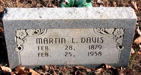 DAVIS, MARTIN L. - Carroll County, Arkansas | MARTIN L. DAVIS - Arkansas Gravestone Photos