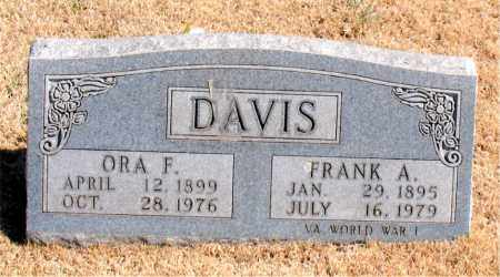 DAVIS, ORA F. - Carroll County, Arkansas | ORA F. DAVIS - Arkansas Gravestone Photos