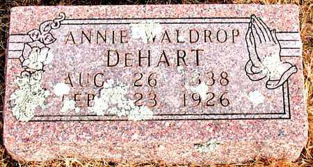 WALDROP DEHART, ANNIE - Carroll County, Arkansas | ANNIE WALDROP DEHART - Arkansas Gravestone Photos