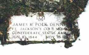 DENNEY (VETERAN CSA), JAMES K POLK - Carroll County, Arkansas | JAMES K POLK DENNEY (VETERAN CSA) - Arkansas Gravestone Photos
