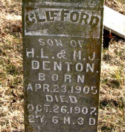 DENTON, CLIFFORD - Carroll County, Arkansas | CLIFFORD DENTON - Arkansas Gravestone Photos
