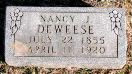 DEWEESE, NANCY  J. - Carroll County, Arkansas | NANCY  J. DEWEESE - Arkansas Gravestone Photos