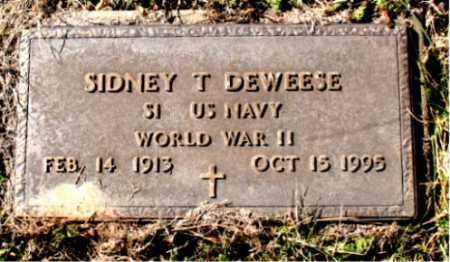 DEWEESE (VETERAN WWII), SIDNEY T. - Carroll County, Arkansas | SIDNEY T. DEWEESE (VETERAN WWII) - Arkansas Gravestone Photos