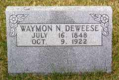 DEWEESE, WAYMON N. - Carroll County, Arkansas | WAYMON N. DEWEESE - Arkansas Gravestone Photos
