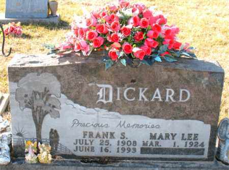 DICKARD, FRANK  S. - Carroll County, Arkansas | FRANK  S. DICKARD - Arkansas Gravestone Photos