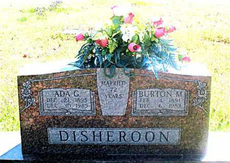 DISHEROON, BURTON M. - Carroll County, Arkansas | BURTON M. DISHEROON - Arkansas Gravestone Photos