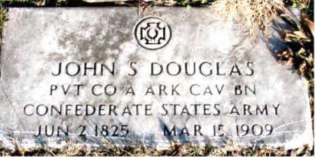 DOUGLAS  (VETERAN CSA), JOHN  S - Carroll County, Arkansas | JOHN  S DOUGLAS  (VETERAN CSA) - Arkansas Gravestone Photos