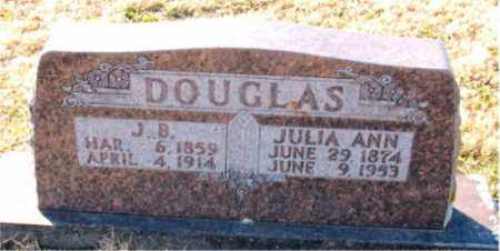 DOUGLAS, J.  B. - Carroll County, Arkansas | J.  B. DOUGLAS - Arkansas Gravestone Photos