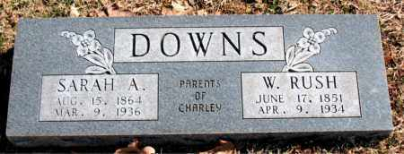 DOWNS, SARAH  A. - Carroll County, Arkansas | SARAH  A. DOWNS - Arkansas Gravestone Photos