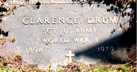 DRUM (VETERAN WWI), CLARENCE - Carroll County, Arkansas | CLARENCE DRUM (VETERAN WWI) - Arkansas Gravestone Photos