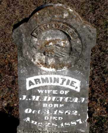DUNCAN, ARMINTIE - Carroll County, Arkansas | ARMINTIE DUNCAN - Arkansas Gravestone Photos