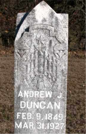 DUNCAN, ANDREW J. - Carroll County, Arkansas | ANDREW J. DUNCAN - Arkansas Gravestone Photos