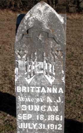 DUNCAN, BRITTANNA - Carroll County, Arkansas | BRITTANNA DUNCAN - Arkansas Gravestone Photos