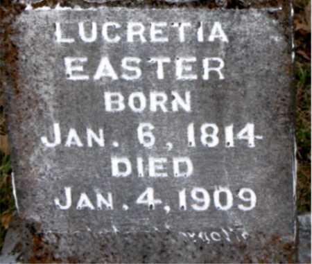 EASTER, LUCRETIA - Carroll County, Arkansas | LUCRETIA EASTER - Arkansas Gravestone Photos