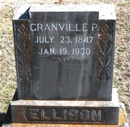 ELLISON, GRANDVILLE P. - Carroll County, Arkansas | GRANDVILLE P. ELLISON - Arkansas Gravestone Photos