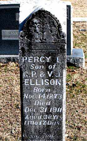 ELLISON, PERCY L - Carroll County, Arkansas | PERCY L ELLISON - Arkansas Gravestone Photos