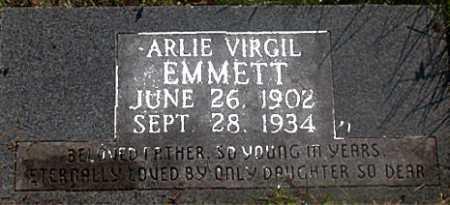 EMMETT, ARLIE VIRGIL - Carroll County, Arkansas | ARLIE VIRGIL EMMETT - Arkansas Gravestone Photos