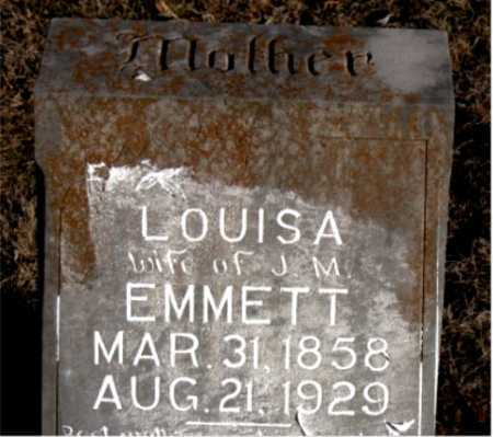EMMETT, LOUISA - Carroll County, Arkansas | LOUISA EMMETT - Arkansas Gravestone Photos