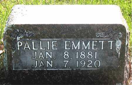 EMMETT, PALLIE - Carroll County, Arkansas | PALLIE EMMETT - Arkansas Gravestone Photos