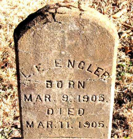ENGLER, L. E. - Carroll County, Arkansas | L. E. ENGLER - Arkansas Gravestone Photos