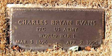 EVANS (VETERAN WWI), CHARLES BRYAN - Carroll County, Arkansas | CHARLES BRYAN EVANS (VETERAN WWI) - Arkansas Gravestone Photos