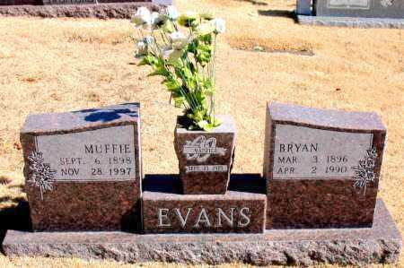 EVANS, MUFFIE - Carroll County, Arkansas | MUFFIE EVANS - Arkansas Gravestone Photos