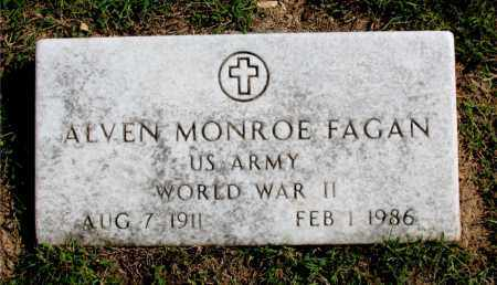 FAGAN  (VETERAN WWII), ALVEN MONROE - Carroll County, Arkansas | ALVEN MONROE FAGAN  (VETERAN WWII) - Arkansas Gravestone Photos