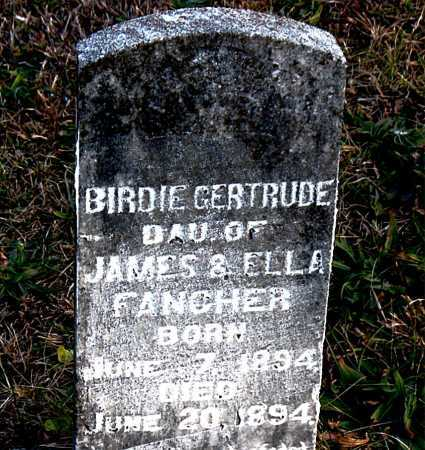 FANCHER, BIRDIE  GERTRUDE - Carroll County, Arkansas | BIRDIE  GERTRUDE FANCHER - Arkansas Gravestone Photos