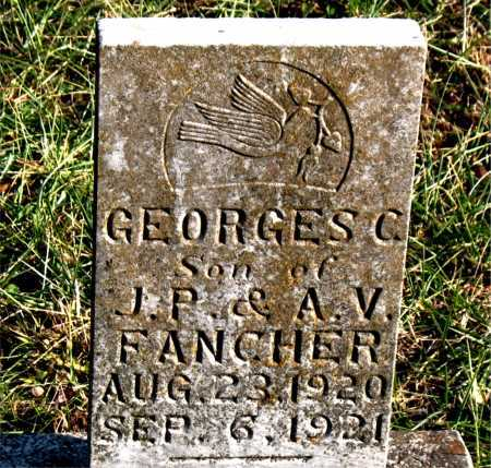 FANCHER, GEORGE  S. C. - Carroll County, Arkansas | GEORGE  S. C. FANCHER - Arkansas Gravestone Photos