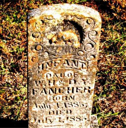 FANCHER, INFANT DAUGHTER - Carroll County, Arkansas | INFANT DAUGHTER FANCHER - Arkansas Gravestone Photos