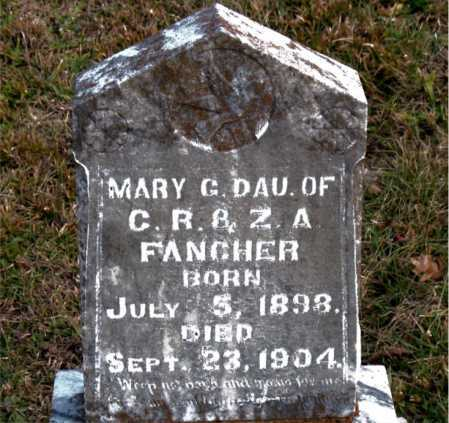 FANCHER, MARY  G. - Carroll County, Arkansas | MARY  G. FANCHER - Arkansas Gravestone Photos