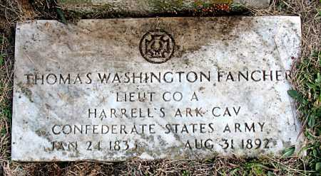 FANCHER  (VETERAN CSA), THOMAS WASHINGTON - Carroll County, Arkansas | THOMAS WASHINGTON FANCHER  (VETERAN CSA) - Arkansas Gravestone Photos