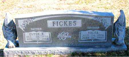 FICKES, CLYDE E. - Carroll County, Arkansas | CLYDE E. FICKES - Arkansas Gravestone Photos