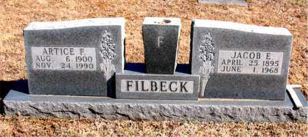FILBECK, JACOB  E. - Carroll County, Arkansas | JACOB  E. FILBECK - Arkansas Gravestone Photos