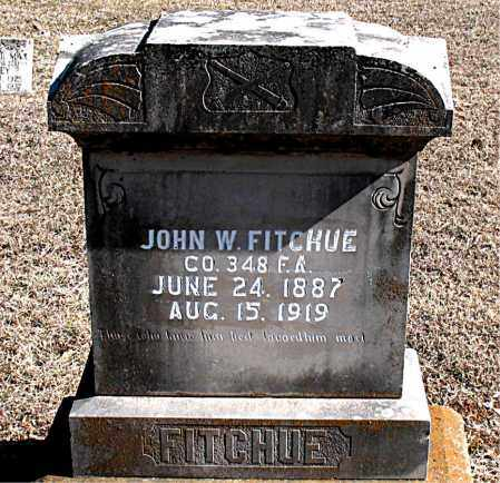 FITCHUE  (VETERAN WWI), JOHN W - Carroll County, Arkansas | JOHN W FITCHUE  (VETERAN WWI) - Arkansas Gravestone Photos