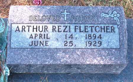 FLETCHER, ARTHUR REZI - Carroll County, Arkansas   ARTHUR REZI FLETCHER - Arkansas Gravestone Photos