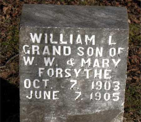 FORSYTHE, WILLIAM L. - Carroll County, Arkansas   WILLIAM L. FORSYTHE - Arkansas Gravestone Photos
