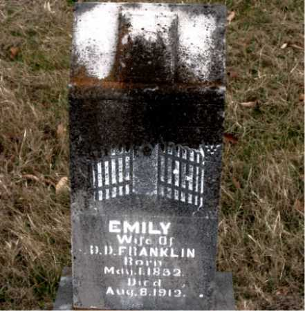 FRANKLIN, EMILY - Carroll County, Arkansas | EMILY FRANKLIN - Arkansas Gravestone Photos