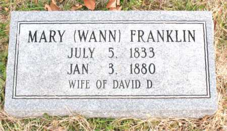 WANN FRANKLIN, MARY - Carroll County, Arkansas | MARY WANN FRANKLIN - Arkansas Gravestone Photos