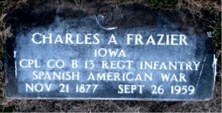 FRAZIER  (VETERAN SAW), CHARLES A. - Carroll County, Arkansas | CHARLES A. FRAZIER  (VETERAN SAW) - Arkansas Gravestone Photos