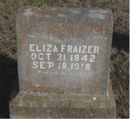 FRAZIER, ELIZA - Carroll County, Arkansas | ELIZA FRAZIER - Arkansas Gravestone Photos