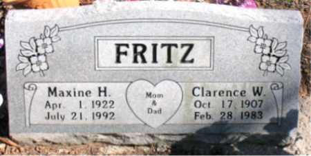 FRITZ, MAXINE - Carroll County, Arkansas | MAXINE FRITZ - Arkansas Gravestone Photos