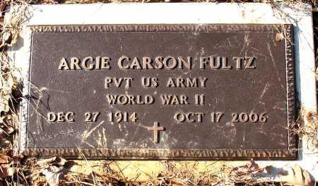 FULTZ  (VETERAN WWII), ARGIE CARSON - Carroll County, Arkansas | ARGIE CARSON FULTZ  (VETERAN WWII) - Arkansas Gravestone Photos